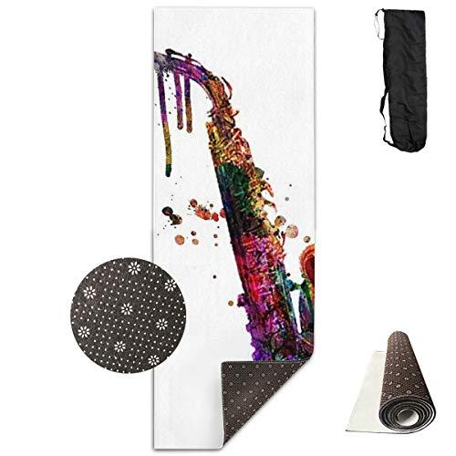 Komorebi12 Saxofoon Draagbare Vloer Om Verbetering Yoga 61cm*180cm Pilates Of Ballet Barre Oefening Compact Lichtgewicht Met Draagband