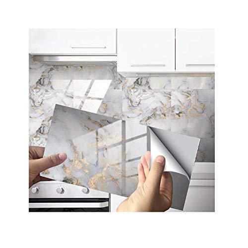 16/32 PSC, Fliesenaufkleber, DIY, Dekoration, U-Bahn-Peel & Stick Selbstklebende Spritzboden, geeignet für Wohnzimmer, Küche, Badezimmer usw-D-35._16 stücke
