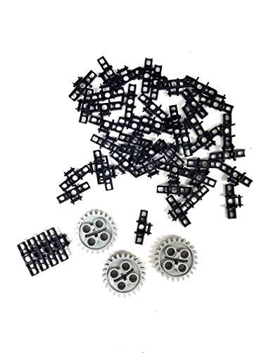 LEGO 3873–3648Technic–Raupe Glied groß (50Stück) und Zahnräder 24Zähne (3Stück)