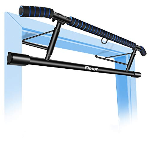 Fimor Pull up Bar for Doorway Home Pull-up Bars Workout Pullups Bar with Shortened Upper Handle Bar No Assemble Needed Improved Version