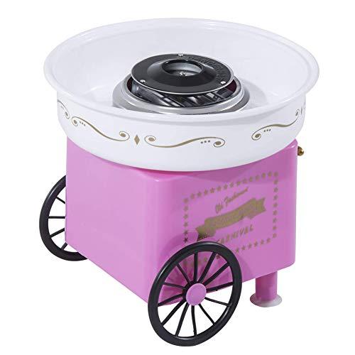 Yangyang Maquina De Algodon De Azucar,Cotton Candy Machine Acero Inoxidable Mini MáQuina EléCtrica De AlgodóN De AzúCar DIY MáQuina De Hilo De AzúCar Regalo