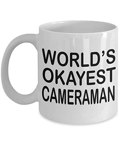 N\A Funny Cameraman Coffee Mug World 's Okayest Cameraman Cameraman Gift Gifts For Cameraman Hombres Mujeres