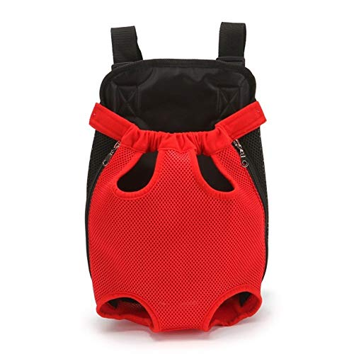 FEIFUSHIDIAN Lifting Breathable Hundetragetasche Transport Haustier Rucksack Dog Stuff Outdoor Travel Products Griff (Color : Red, Size : L)