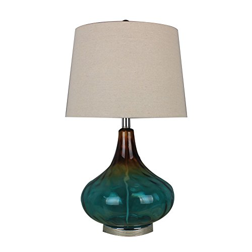 CHENG Verre Lampe De Table Mode Creative Bleu Art Chambre Salle D'étude Salon Décoration,Natural