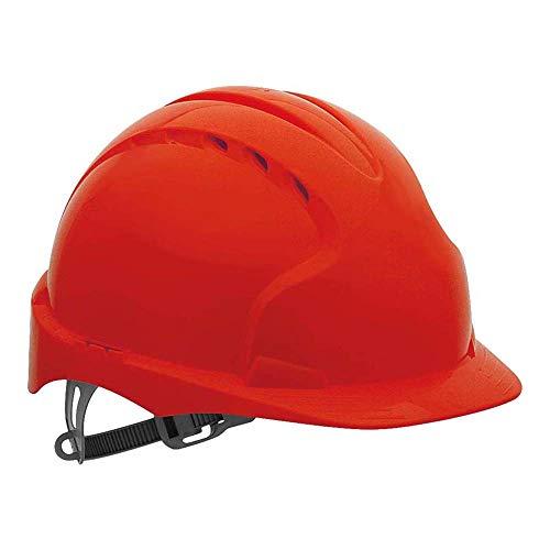 JSP AJF030-000-600 EVO2® - Casco de seguridad con trinquete deslizante, con ventilación, color rojo ✅