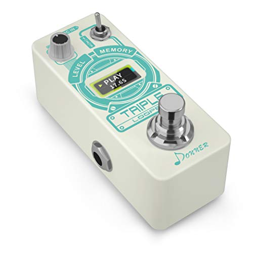 Donner Triple Looper Guitar Effect Pedal with Time Progress Bar Display 3...