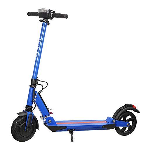 QIANG Scooter Elettrico Pieghevole 8 Pollici Solido Pneumatico Posteriore Doppio Freno velocità Massima 15 Km/H 30 Km Lungo Raggio,Blue
