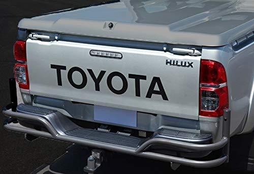BLS Graphics Heckklappenaufkleber Grafiksatz Aufkleber Design für Toyota Hilux Toyota (Schwarz)