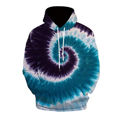 EUZeo Unisex 3D Gedruckter Pullover mit Kapuze für Damen und Herren Casual Kapuzenpullover Outwear Bunte Pulli Sweatshirts Taschen Hässlich Kapuzenpulli Streetwear