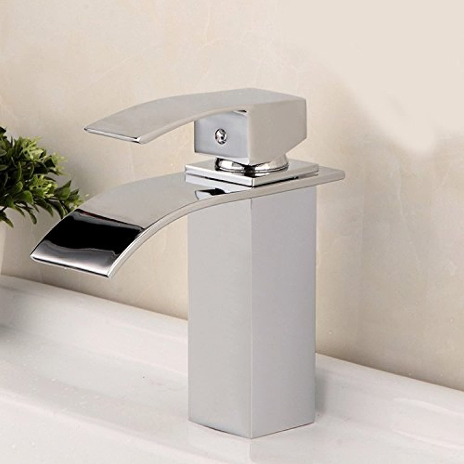 Hlluya Professional Sink Mixer Tap Kitchen Faucet Basin cold water TAP-TAP nickel plated brass waterfall faucet sink hot and cold
