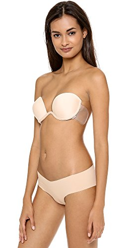 Maidenform Women's Push-Up Combo Wing Bra with Underwire and Adhesive Wings, 4, Nude