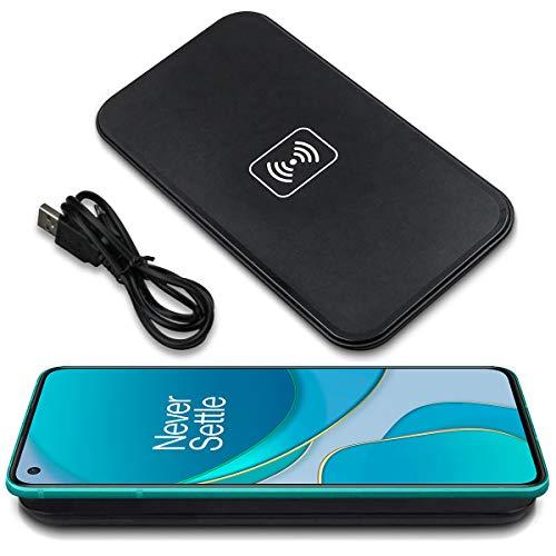 UC-Express Qi Wireless Charger kompatibel für OnePlus 8T / 8 Pro Induktives Universal Schnellladegerät Kabellos Laden, Farbe:Schwarz