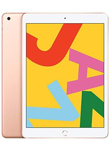 Apple iPad, 10.2 pulgadas, Wi-Fi, último modelo, renovado, Wi-Fi, Dorado, 128 GB