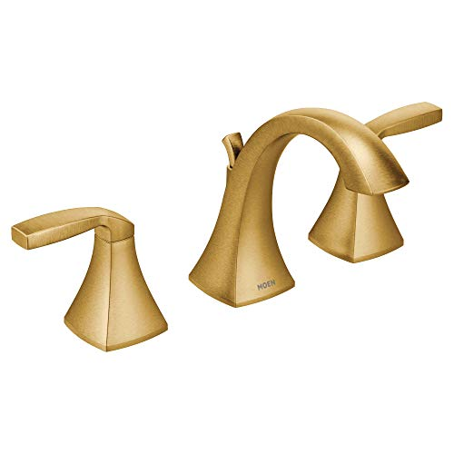 Moen T6905BG Voss Two-Handle 8 in. Widespread Bathroom Faucet Trim Kit, Valve Required, Brushed Gold