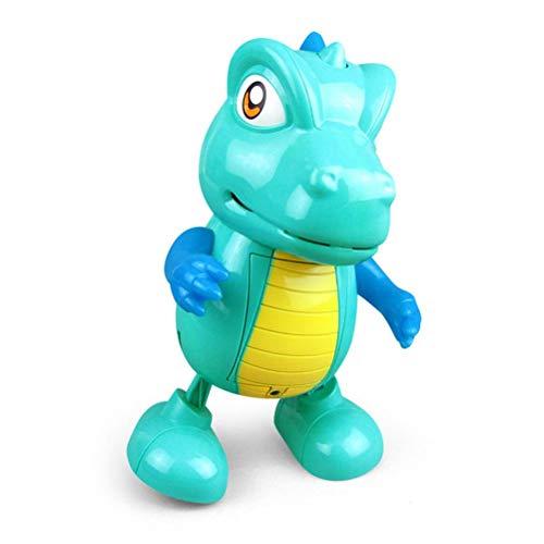 Yolluu Juguete de dinosaurio con diseño de robot de canto, dinosaurio de baile eléctrico, lindo dinosaurio con luces y sonidos para regalo de cumpleaños de niños