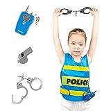 Waroom Juego de juguetes de rol, para policía, disfraz de policía con accesorios para niños – Chándal para la experiencia de la policía