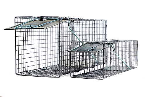 2pc Animal Traps (32'x10'x12' and 24'x7'x7') for Cats, Racoons, Gophers, Possums, Skunks, Beavers...