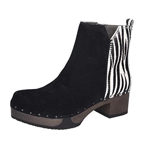 Softclox Damen Stiefeletten S3493 Zebra schwarz 776946