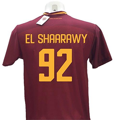 Maglia Calcio El Shaarawy 92 Roma Replica Autorizzata 2017-2018 Bambino (Taglie 2 4 6 8 10 12) Adulto (S M L XL) (6 Anni)