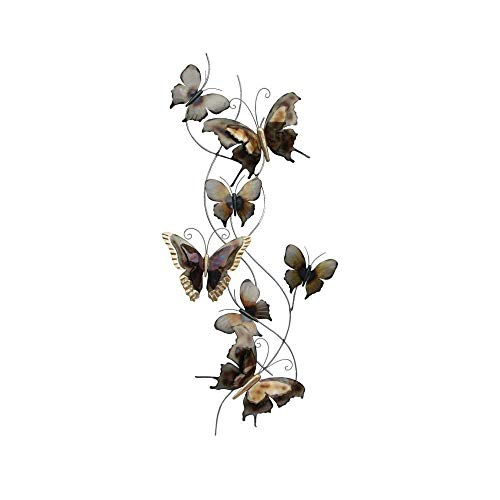 Wandbild Schmetterlinge aus Metall 124 cm groß Gartendeko Schmetterling Dekoschmetterling Wanddeko aus Metallschmetterlinge