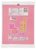 ゴミ箱用S10L 20枚入02LLD+メタロセン ピンク PR20 【まとめ買い(50袋×5ケース)合計250袋セット】 38-319