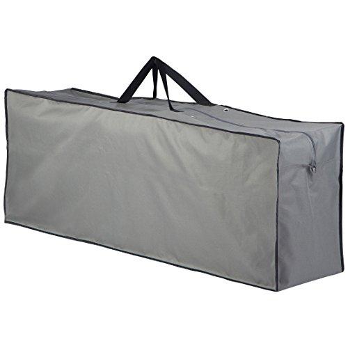 Ultranatura Tragetasche für Polsterauflagen / Gartenmöbelauflagen Aufbewahrung in Tragetasche, wasserdichte Auflagenbox als Schutztasche für Gartenauflagen, in der Farbe grau