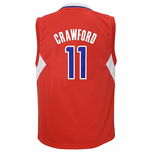 adidas Jamal Crawford Los Angeles Clippers NBA Boys Red Official Road Replica Basketball Jersey (7)