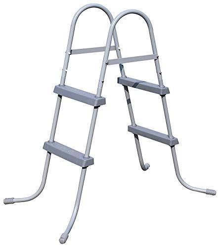 Brandsseller - Escalera para piscina (84 cm), gris claro