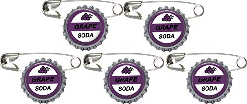 Crafting Mania LLC. 5 Grape Soda Bottle Cap Pins Inspired by Up Set #1