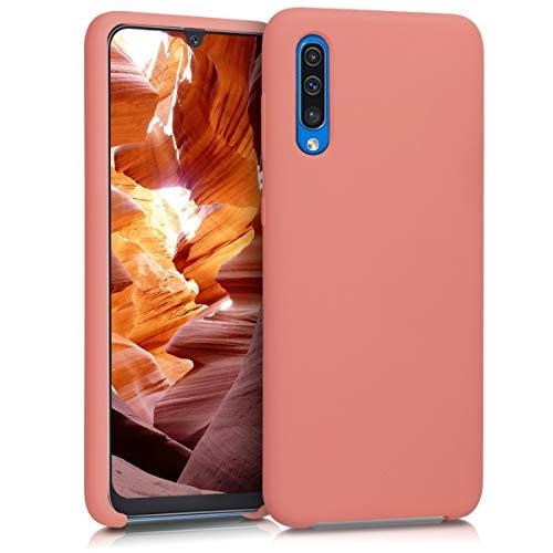 kwmobile Funda Compatible con Samsung Galaxy A50 - Carcasa de TPU para móvil - Cover Trasero en Coral Mate