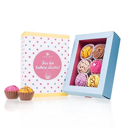 6 American Cupcakes - Muttertag - Cupcake-Pralinen | Luxus Verpackung | Für die liebste Mama | Muttertagsgeschenk | Dankeschön für Mutti | Geschenk für Mutter | Geburtstag | Weihnachtsgeschenk