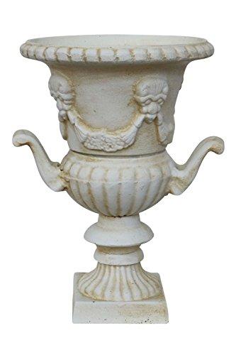 Nostalgia anfora 33cm Vaso per Piante ghisa Stile Antico Bianco