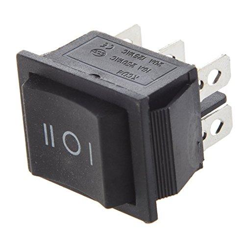 SODIAL(R) Interruptor Basculante 6-Terminales 3 Posicion ON/OFF/ON DPDT 16A 250VCA 20A 125VCA