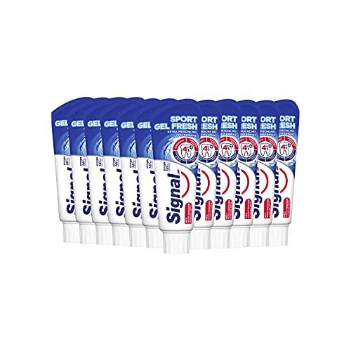 Signal Zahnpasta Sport Gel Fresh (für ein extra Frische-Gefühl mit 4-in-1 Formel), 12er Pack (12 x 75 ml)