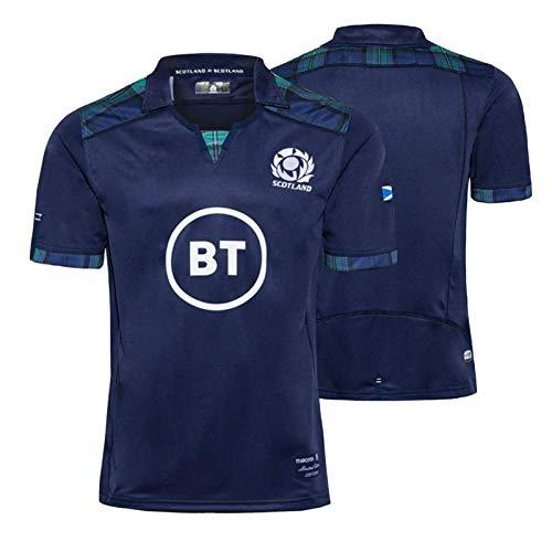 2020 Scozia di Rugby Jersey, New Scozzese Allenamento T-Shirt, 100% Poliestere Traspirante, Maglia da Calcio per Donne degli Uomini XXXL
