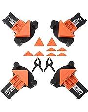 Prensa en ángulo Drado Abrazadera en ángulo de 60/90/120 grados para tablones de 5 a 22 mm de grosor con abrazadera de resorte