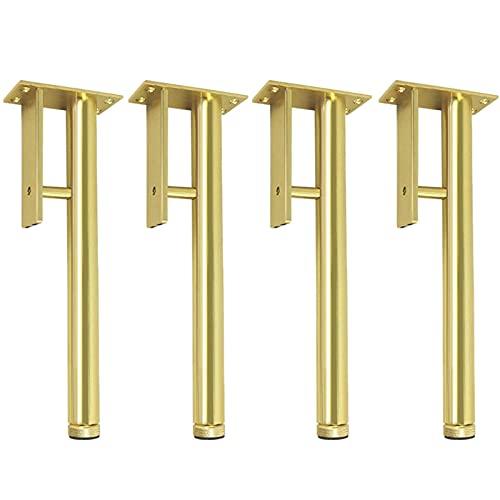 4 soffben Ben Aluminiumlegering Möbler Ben Soffbyte Ben perfekt för mitten av århundradet Modern/Stor hack för soffa, soffa, säng, soffbord, 25 cm / 9.84in