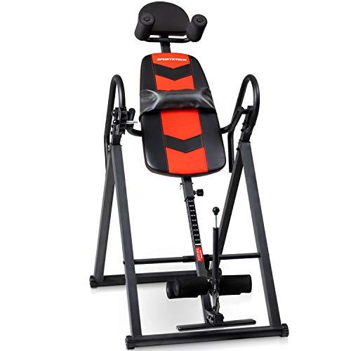 Sportstech Tabla de Inversión Gravitacional para Fitness y Masaje de Espalda | Aparato de Inversión & Entrenador de Abs en casa | Plegable - Soporta 120 Kg | Banco de Inversión para casa - IT200