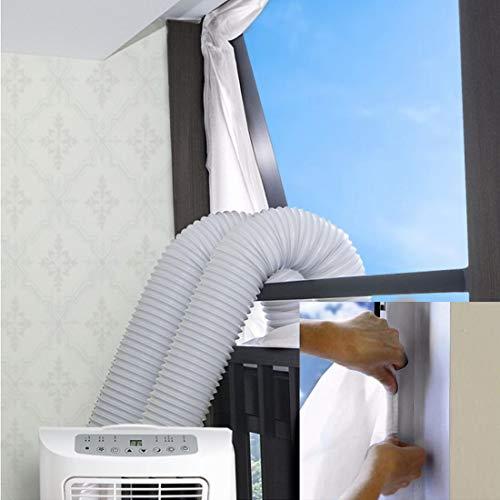Haushaltsgeräte Fensterabdichtung für Mobile Klimageräte/Klimaanlagen/Wäschetrockner/Ablufttrockner/Hot Air Stop zum Anbringen an Fenster, Dachfenster, Flügelfenster/Klimaanlage 500cm