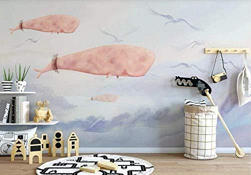 ZZXIAO Sky Sea Fish Wanddekoration Wandtapete wandpapier fototapete 3d effekt tapete Wohnzimmer Schlafzimmer Hintergrundbild-430cm×300cm