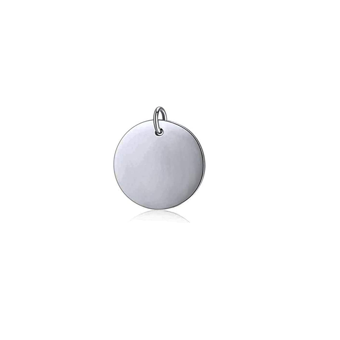 Mei Show 925 Sterling Silver Round Disc Pendant Blank Stamping Tag Necklace Bracelet Earring Pendant Charms
