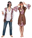 Generique - Disfraz de Pareja Hippie Violeta Adulto Única