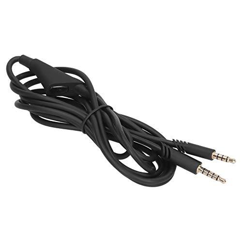 01 Cable para Auriculares, Hermoso Cable de Repuesto para Auriculares, Cable de Audio, función de Silencio de Repuesto con Superficie Brillante y Brillante para Logitech Astro