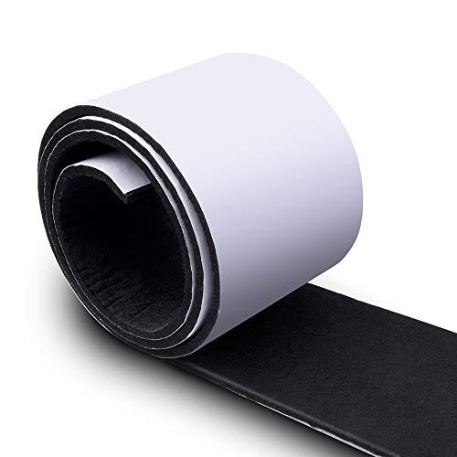 Onepine Filzgleiter Selbstklebend 150cm x 10cm Schwarz Filzband 4mm Dick, Kann in Filzgleiter jeder Form Geschnitten Werden zum Schutz Möbel Tisch und Stuhlecke