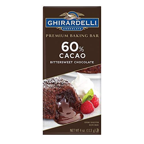 Ghirardelli Premium Baking Bar 60% Cacao Bittersweet Chocolate - 4 oz. (113g), 12 bags