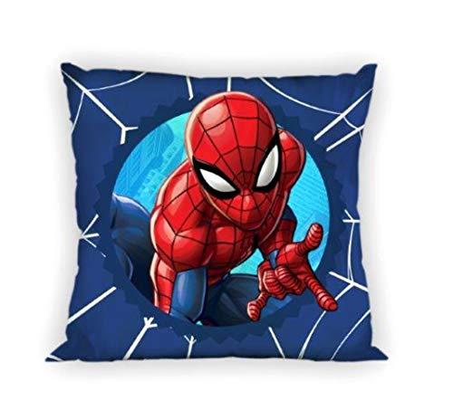 Theonoi Funda de cojín para niños y bebés, sin relleno, de algodón, varios diseños (Spiderman)