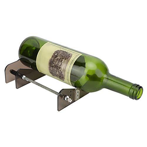 Herramienta para cortar botellas, cortador de botellas de vidrio con varilla de soporte de acero inoxidable para manualidades para botellas de cerveza
