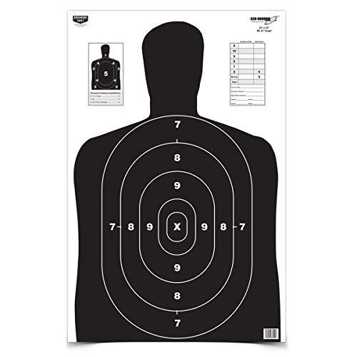 Birchwood Casey Eze-Scorer BC27 Paper Target (Per 5), Black, 23 x 35-Inch