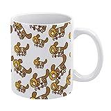 Personalizar cerámica 330ml Té Café Taza blanca y negra Diseños sorprendentes Pet Dog Funny Element Emoticon Pack para...