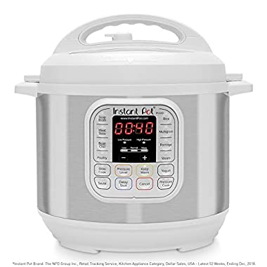 Instant Pot Duo 7-in-1 Electric Pressure Cooker, Slow Cooker, Rice Cooker, Steamer, Saute, Yogurt Maker, and Warmer|6 Quart|White|11 One-Touch Programs